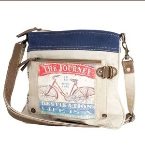 The Journey Bicycle Leather & Canvas Crossbody bag